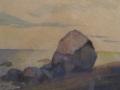 Siirtolohkare rannalla